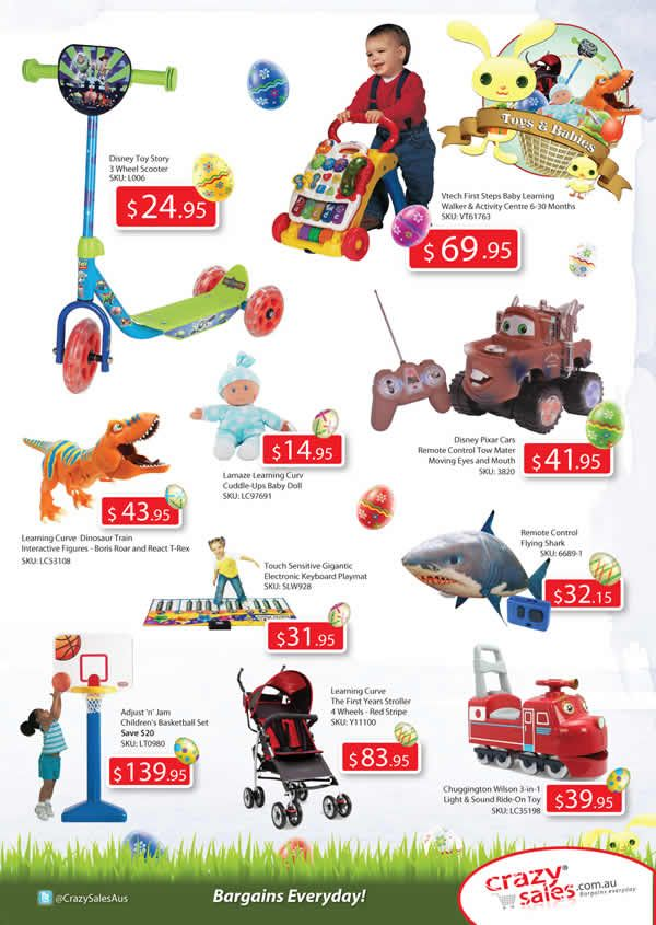 "Page 5 Easter Catalogue  ""Toys & Babies"""