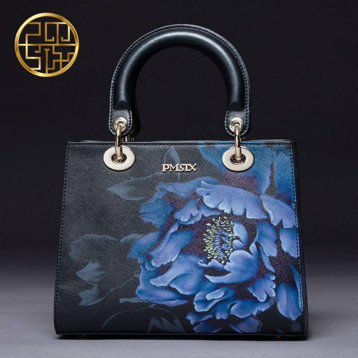 Chinese Style Designer Brand Women Bags 2016 Luxury Cow split Leather Handbags Banquet Bags Flower Print 108202
