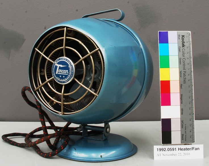 History About The Electric Fan : S rotor electric torcan h heater fan retro our