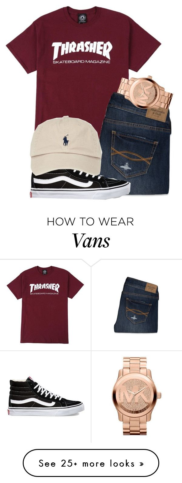 """untitled 103"" by mmapp on Polyvore featuring Abercrombie & Fitch, Michael Kors, Vans, POLO, vans, michaelkors and 2016"