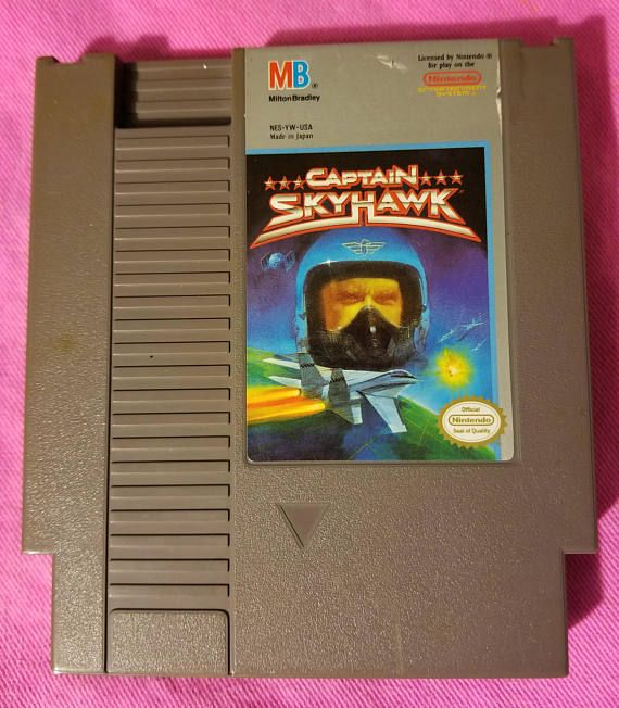 Captain Skyhawk NES Game 1989 Official Nintendo Entertainment System Milton Bradley Rare Games