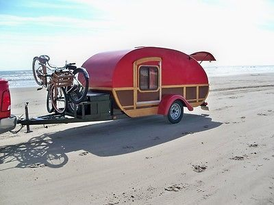 5' x 12' Custom Built Flame Red Woody Teardrop Camper for sale Contact owner even if time is out of bidding. Still have it as of 2/19/14