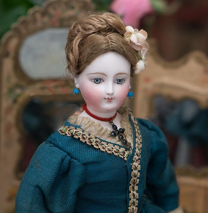 "12"" (30 cm) Rare Antique French Fashion Bisque Doll with Blue Eyes from respectfulbear on Ruby Lane"
