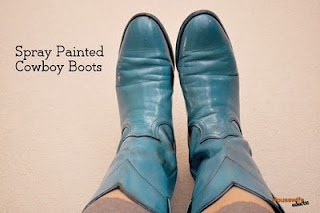 spray painted cowboy boots