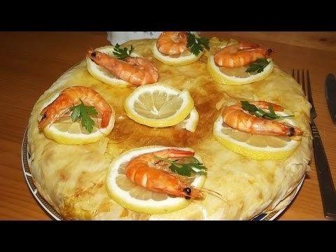 Pastilla placinta marocana cu creveti si pui (reteta video) | JamilaCuisine