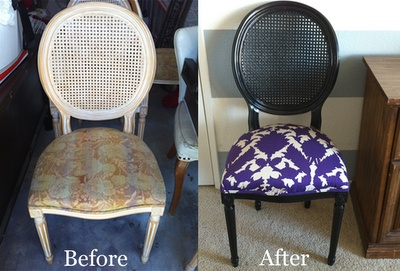 easy chair redo: Chairs Makeovers, Desks Chairs, Domestic Decor, Projects Ideas, Easy Chairs, Louis Chairs, Ideal Ideas, Diy Projects, Chairs Redo