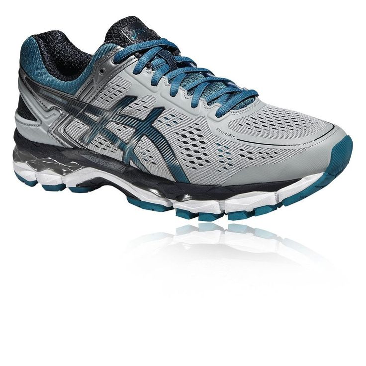 Asics Gel-Kayano 22 Hommes Blanc Bleu Support Running Sport Chaussures  Baskets #Running #