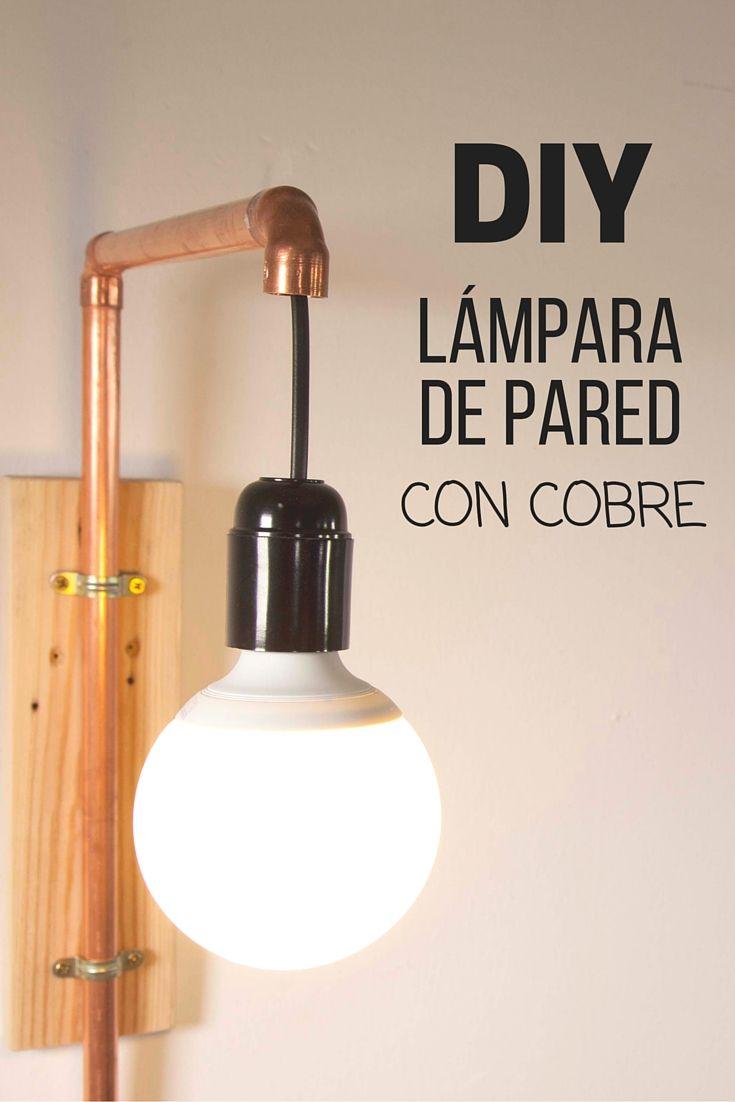 Lámpara de cobre para la pared ➜ Nadie diría que unos simples tubos de cobre…