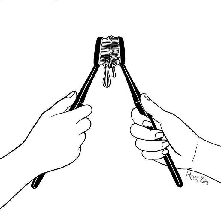 """""""Good Morning, Bae  . . . #toothbrush #kiss #goodmorning"""""""