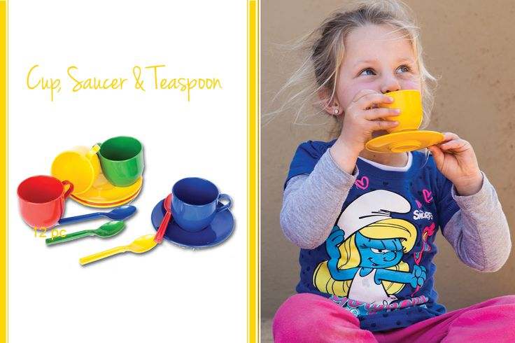 Let your child have hours of fun and entertainment when he or she makes believe that she's like an adult having tea at tea time. If you ever need to wash it, you can also pop the set into your dishwasher because it's conveniently dishwasher safe. It makes cleaning up much easier and faster. This plastic, colourful, cup, saucer and teaspoon set is a perfect gift that will provide an opportunity for your children to learn to socialize as well as share her tea with friends.
