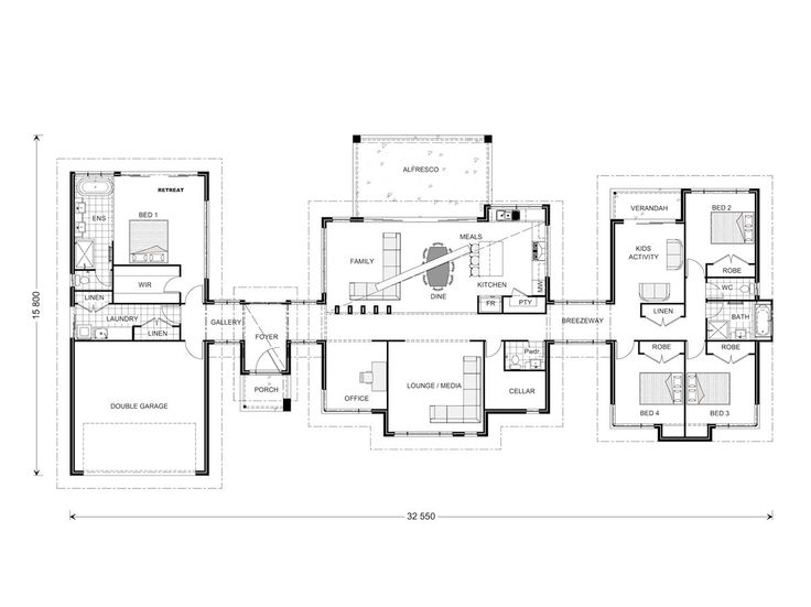 Rochedale 320, Our Designs, Queensland Builder, GJ Gardner Homes Queensland Possible floorplan starting point for acreage home