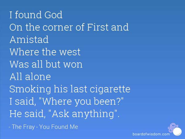 Smoking his last cigarette song