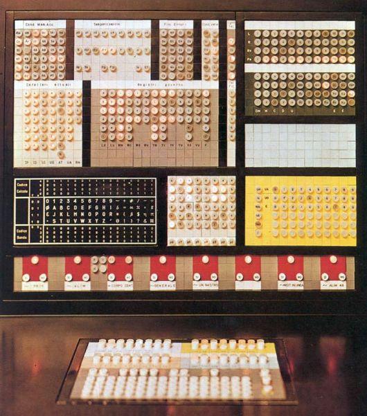 Elea 9003 computer interface for Olivetti, Ettore Sottsass