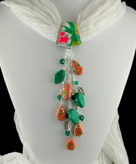 2 Good Claymates: Scarf Jewelry Now Available Online