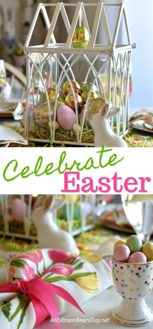 How To Make A Meaningful And Pretty Gold Pastel Easter Table & 281 best Pretty Tablesettings ~ Tablescapes images on Pinterest ...