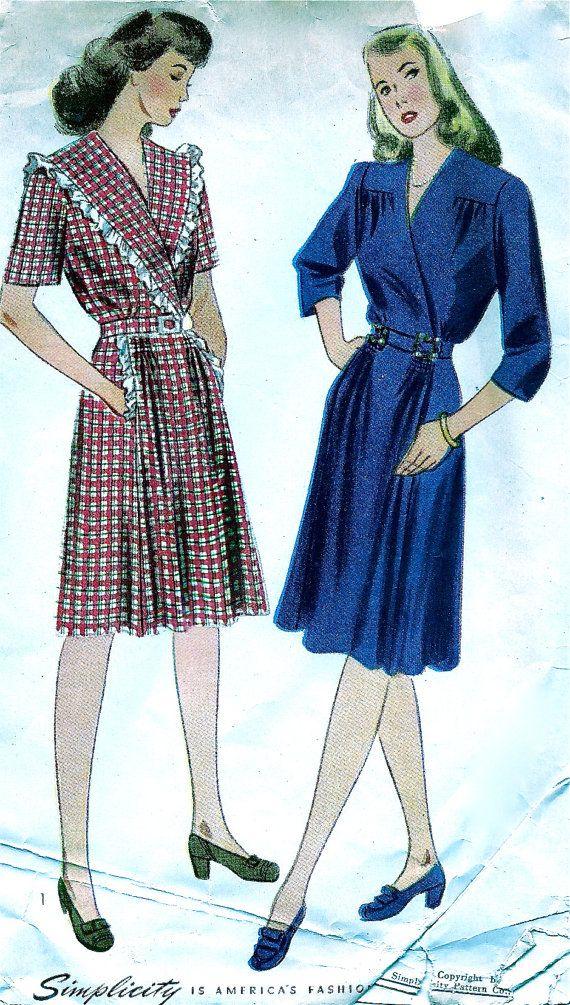 ONBESNEDEN * 1940s eenvoud patroon 4907 * Ladies