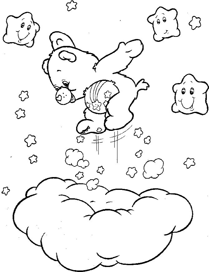 Care Bears Coloring Pictures Pages For Kids CD5