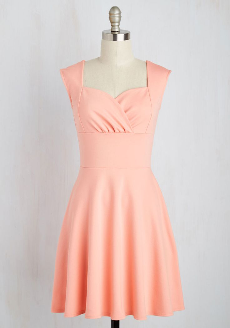 Better Off Blissful Dress in Petal. Should you go casual today, or should you live up your ladylike side in this lovely knit dress? #pink #modcloth