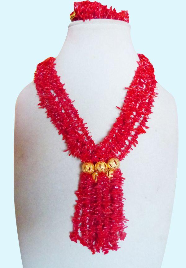 Cheap  2015 nuovo partito rosso wedding nigeriano beads africani branelli di corallo dei monili set spedizione gratuita  , Compro Qualità Gioielli Kit direttamente da fornitori della Cina: