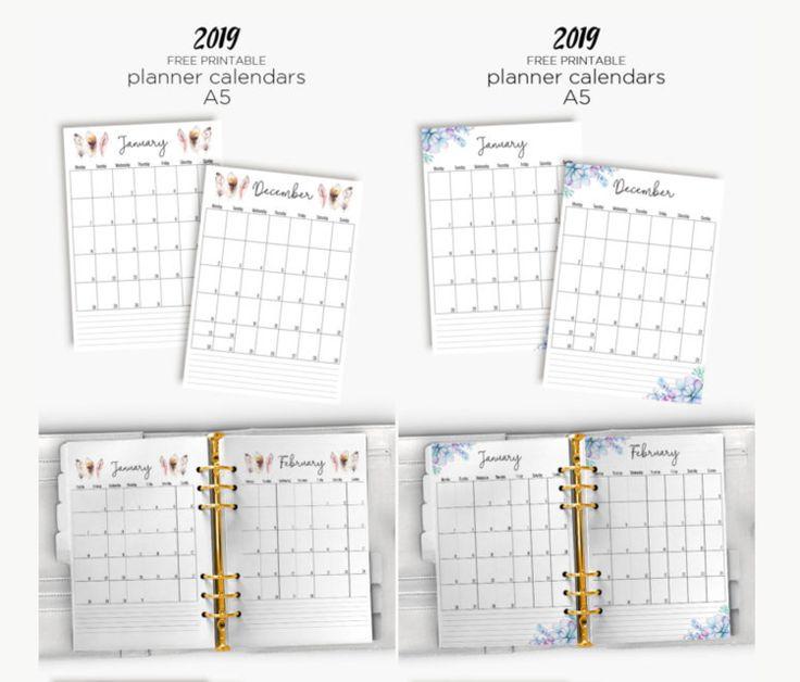 Free Printable 2019 Calendars # 2 Free Printables Free printable