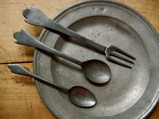ASL_FLT6 18th Century Reproduction Pewter Fork : pewter tableware - pezcame.com