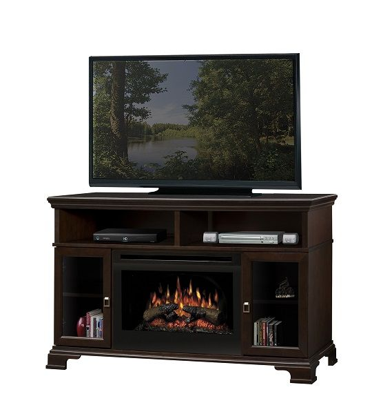 """Dimplex Brookings electric fireplace media cabinet with 25"""" firebox; $1099 cdn."""