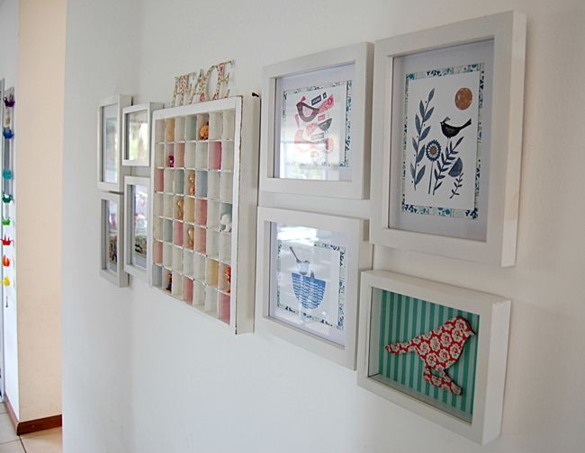 Pared con cuadros cuadro fotos cuadros y decoraciones - Cuadros decoracion hogar ...