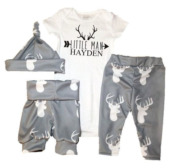Deer Head coming home outfit, Boys Baby Leggings and shirt set, trendy baby clothes, trendy leggings, trendy boy clothes, boys leggings,