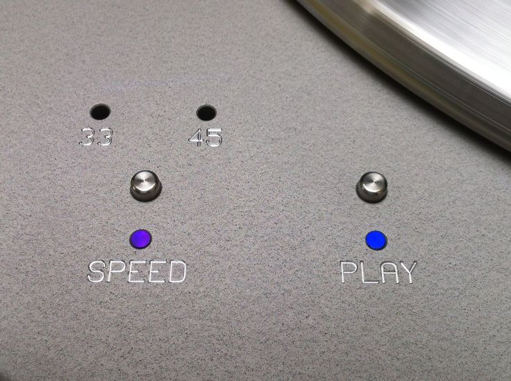Control detail on Spiral groove turntable .