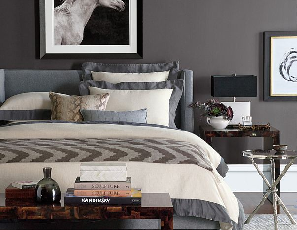 Williams Sonoma Home Fall Collection Contemporary Luxe Bedroom Bedrooms Pinterest Fall