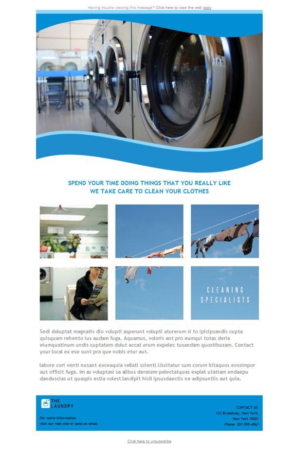Las lavadoras de las lavanderías tienen el detergente, el suavizante y las plantillas newsletter preparadas para triunfar. Échale un vistazo a lo que te ofrece Mailify.