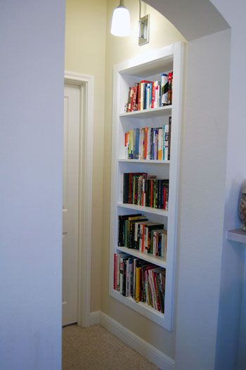 Wonderful Two Of Our Readers Converted An Old Art Niche Into A Built In Bookcase   Hereu0027s How!