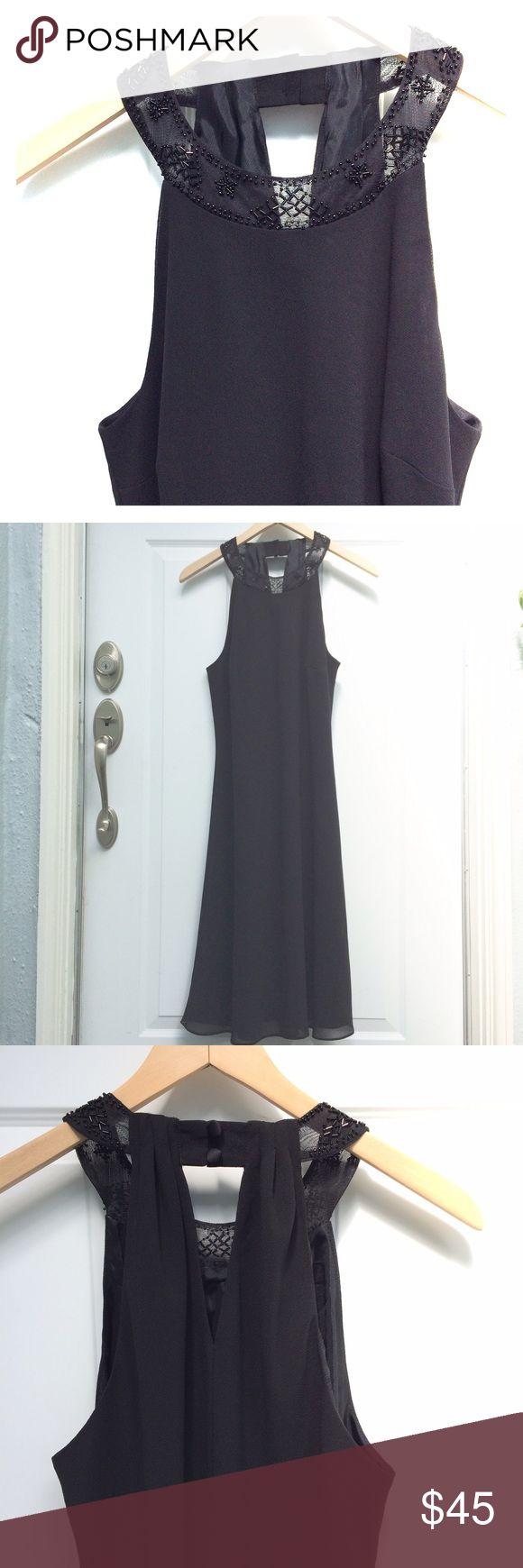 Donna Morgan beaded neckline dress Beautiful beaded neckline black dress by Donna Morgan. Excellent used condition. Donna Morgan Dresses