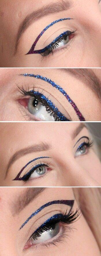 Crazy glitter eyeliner
