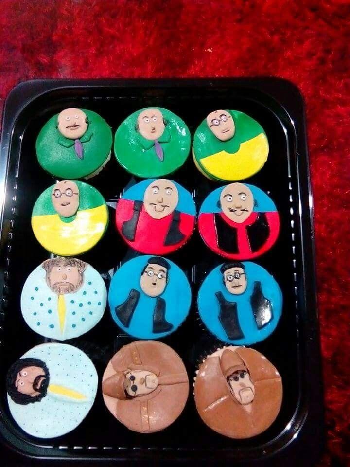 Motu patlu cartoon characters cupcakes