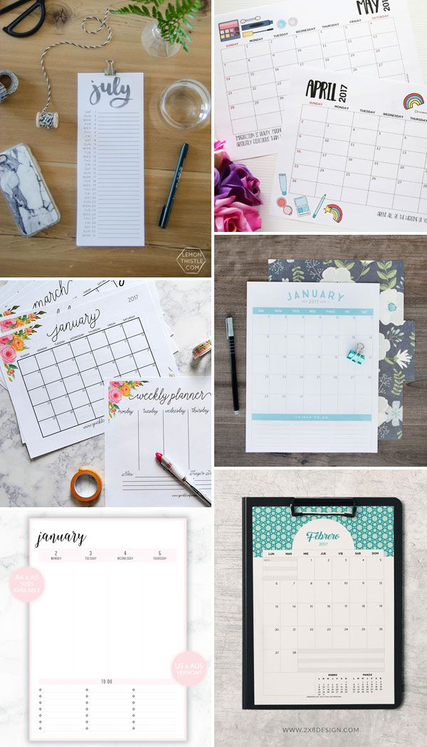 Internet Love: Planners 2017 para download gratuito