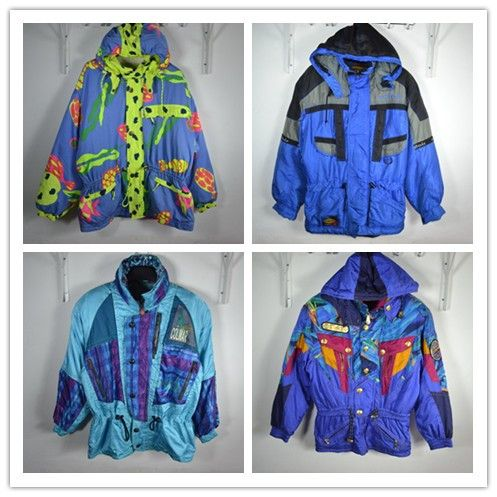 Outdoor vintage neon cotton-padded winter waterproof fireboats thermal fancy men's clothing ski suit