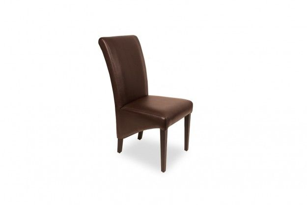 Mini Supreme projects elegance and grace with its high back and upholstery of faux leather, and wooden legs with a slanting design at side elevation available at IDUS Furniture Store, New Delhi, India.