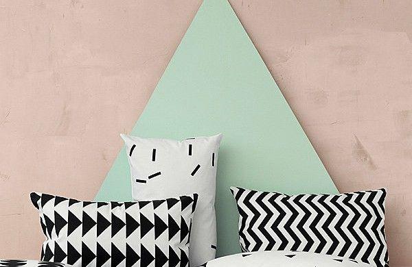 deko ideen kissen kissenbez ge selber n hen geometrische muster schwarz wei m bel und wohnen. Black Bedroom Furniture Sets. Home Design Ideas