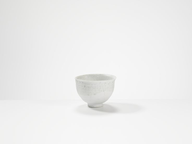 tea bowl, porcelain by Ryoji Koie