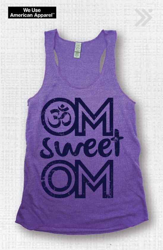 SALE!! Small Om Sweet Om Yoga Tank, Hot Yoga Tank, Yoga Top, Yoga Shirt, Fitness Tank, Yoga Vest, Gym Vest, Workout Tank