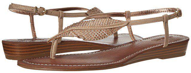 c1d32f8b5d48 Sparkling Leaf Embellished Flat Thong Sandals for Women