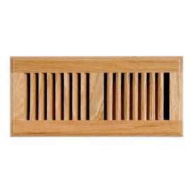 allen roth oak louvered light stain wood floor register rough opening 12