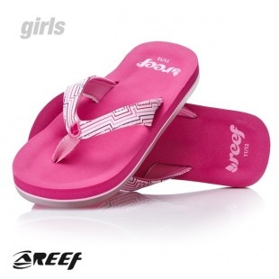 Pink Reef Flip Flops with a bottle opener on the bottom!