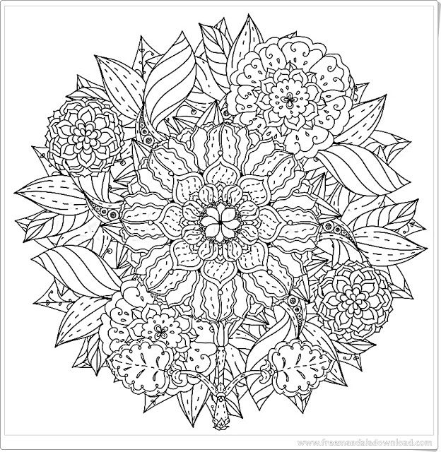 Pin Auf Mandala Harmonie Frei Bedruckbar