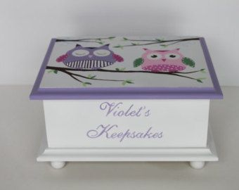 Keepsake box chest baby memory box personalized by staciedale