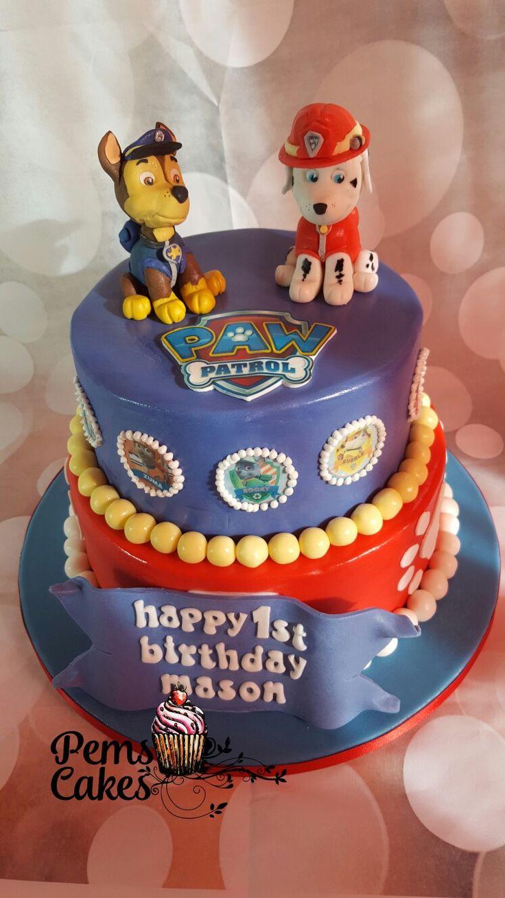 2 tier paw patrol cake paw patrol cake