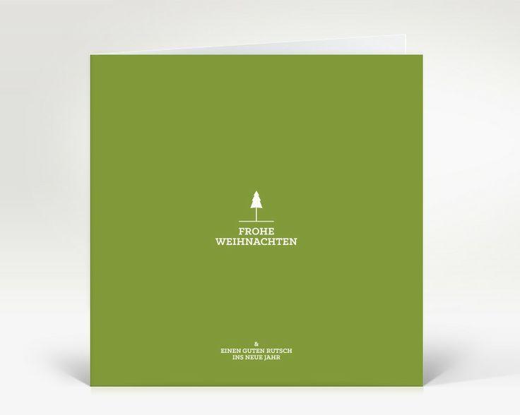 Weihnachtskarte Weihnachtsbäumchen grün | Designer-Weihnachtskarte DK1694