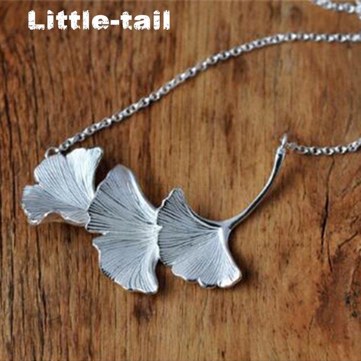 Nowy wpis świeżych naturalnych 925 sterling silver biżuteria ginkgo liści naszyjnik trend w modzie wysokiej jakości biżuteria prezenty dla dziewczyn