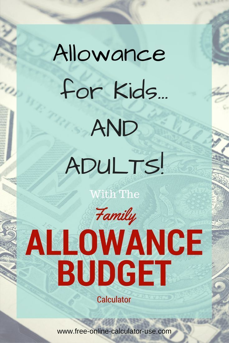 Family Allowance Budget Calculator Household Profit Sharing Plan